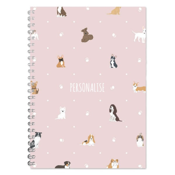 Load image into Gallery viewer, Personalised Dog Pattern A5 Lined Notepad