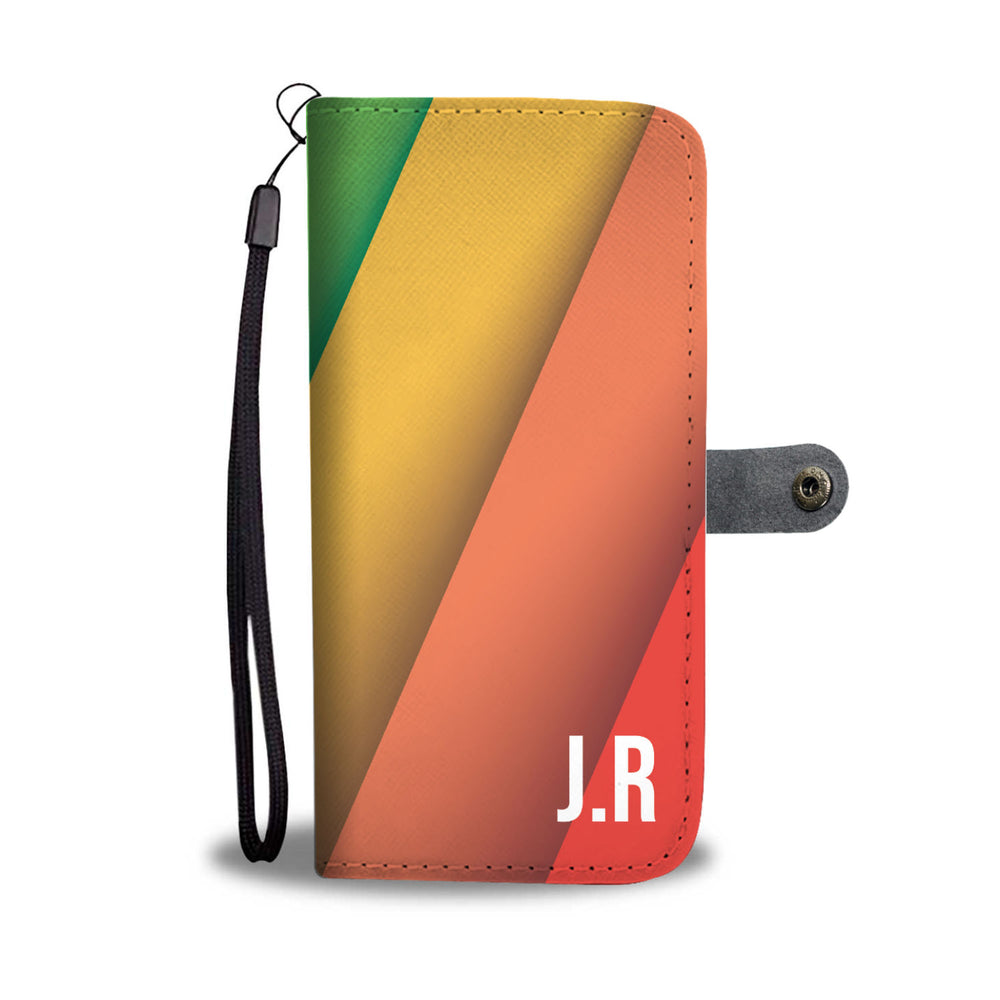 Personalized LGBT Diagonal Flag Phone Wallet Case