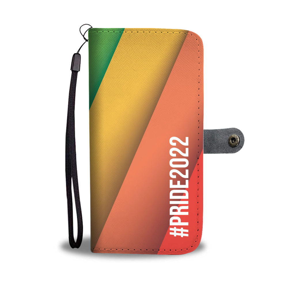 Load image into Gallery viewer, Personalized LGBT Diagonal Flag Phone Wallet Case