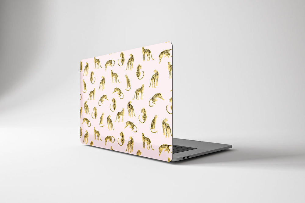 Load image into Gallery viewer, Macbook Hard Shell Case - Pink Leopard