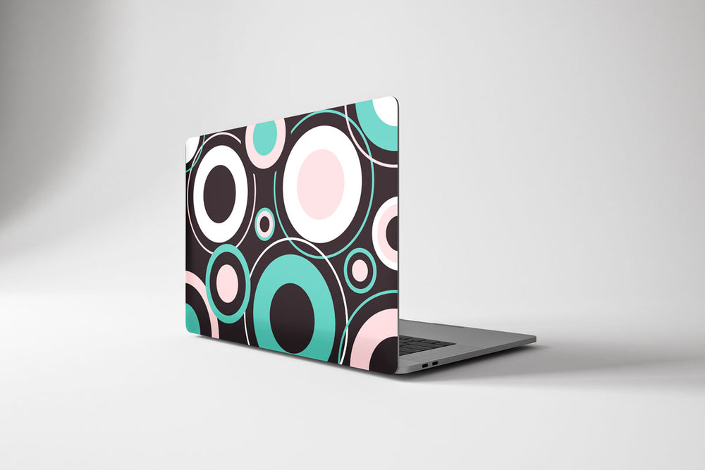 Load image into Gallery viewer, Macbook Hard Shell Case - Retro Circles