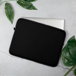 Personalized Laptop Sleeve - Jet Black with Faux Fur Lining