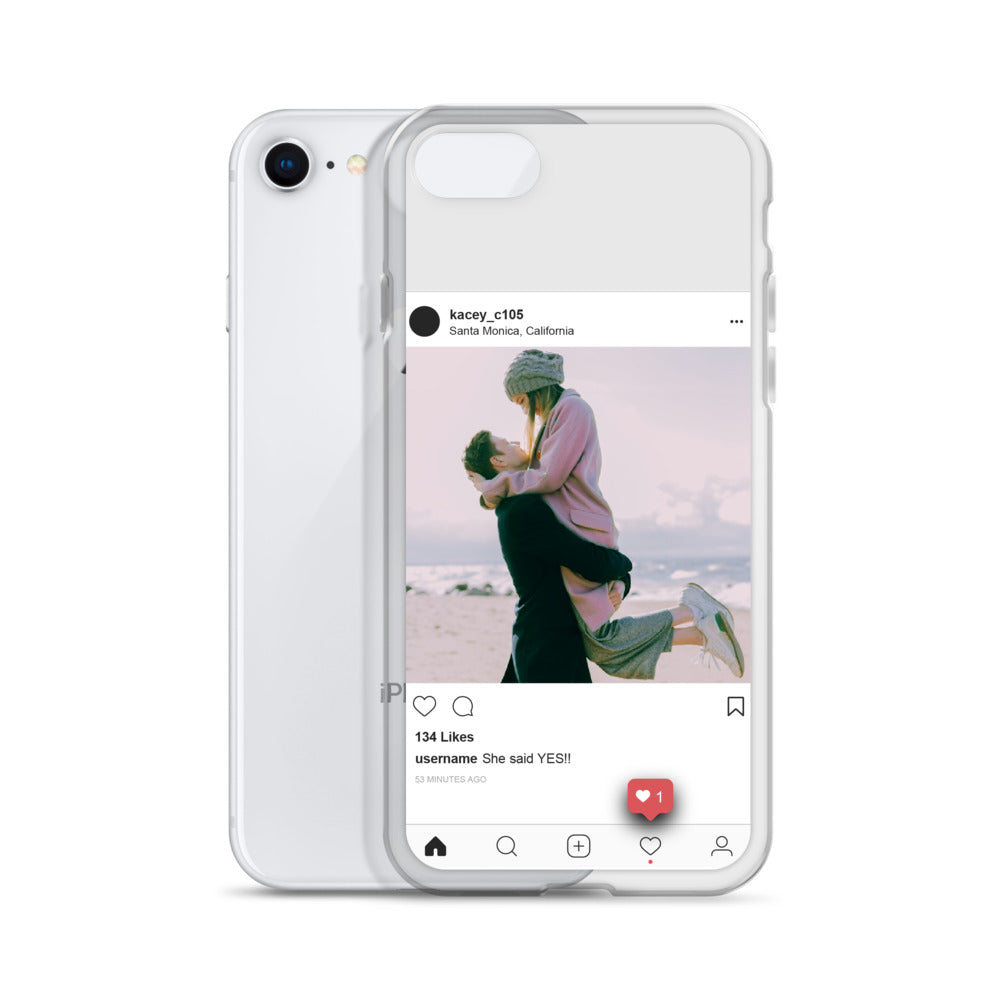 iPhone Case - Social Media with Custom Photo & Text