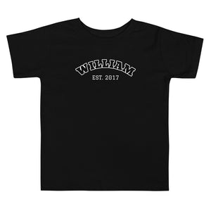 Load image into Gallery viewer, Toddler Short Sleeve Tee - Est. Year in Black