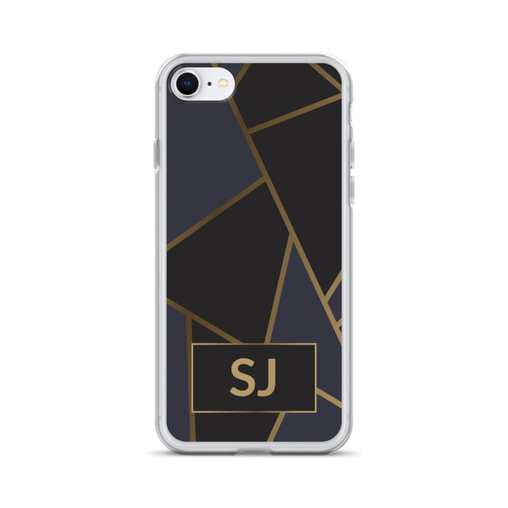 iPhone Case - Luxe Black & Gold Geometric