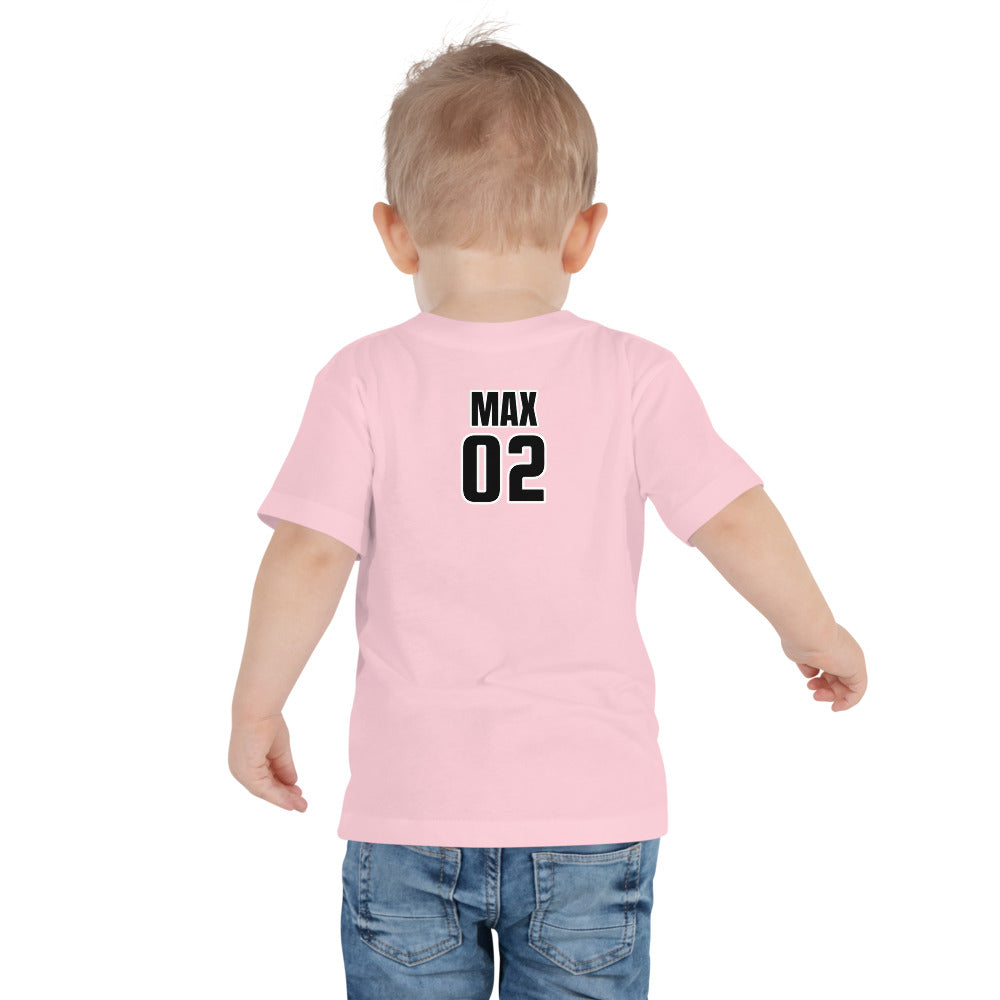 Toddler Short Sleeve Tee - Personalized Back in 4 Colors