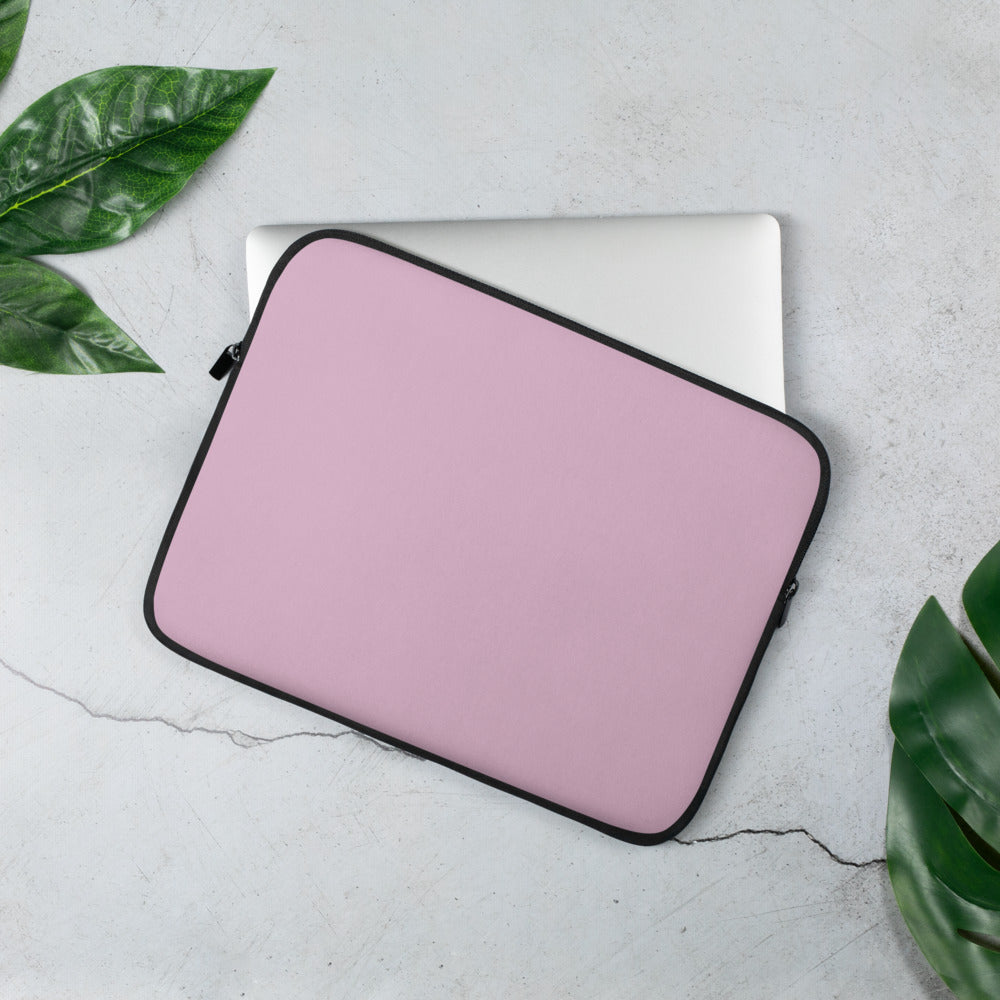 Personalized Laptop Sleeve - Soft Berry with Faux Fur Lining