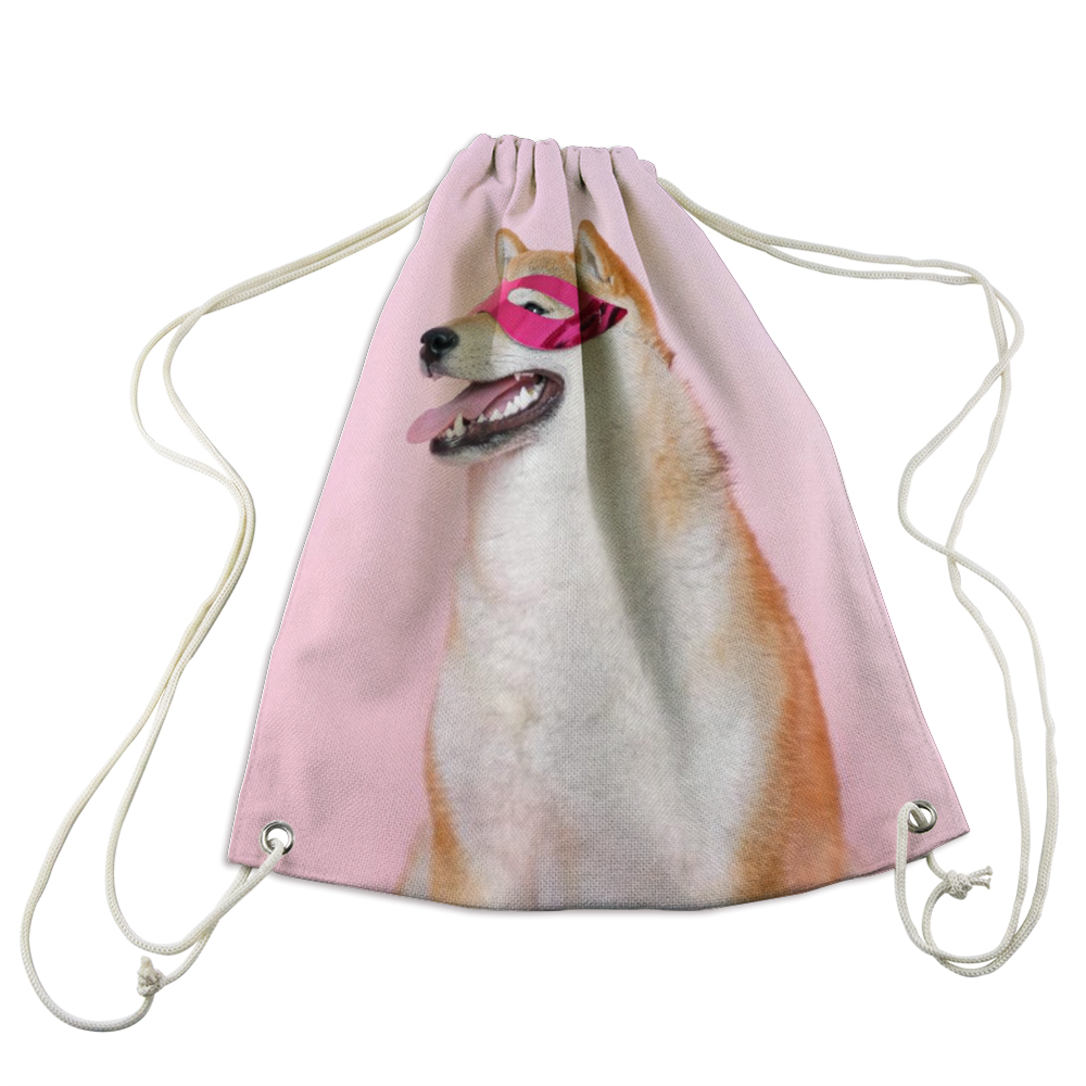 Custom Pet Photo Drawstring Bag