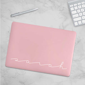 Personalized Macbook Hard Shell Case - Blush Pink