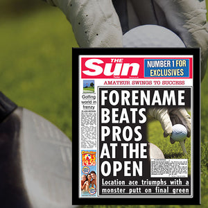 The Sun Golf News Single Page Personalized Print - Male