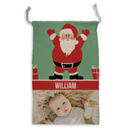 Personalized Santa Sack with Photo - Custom Christmas Sack