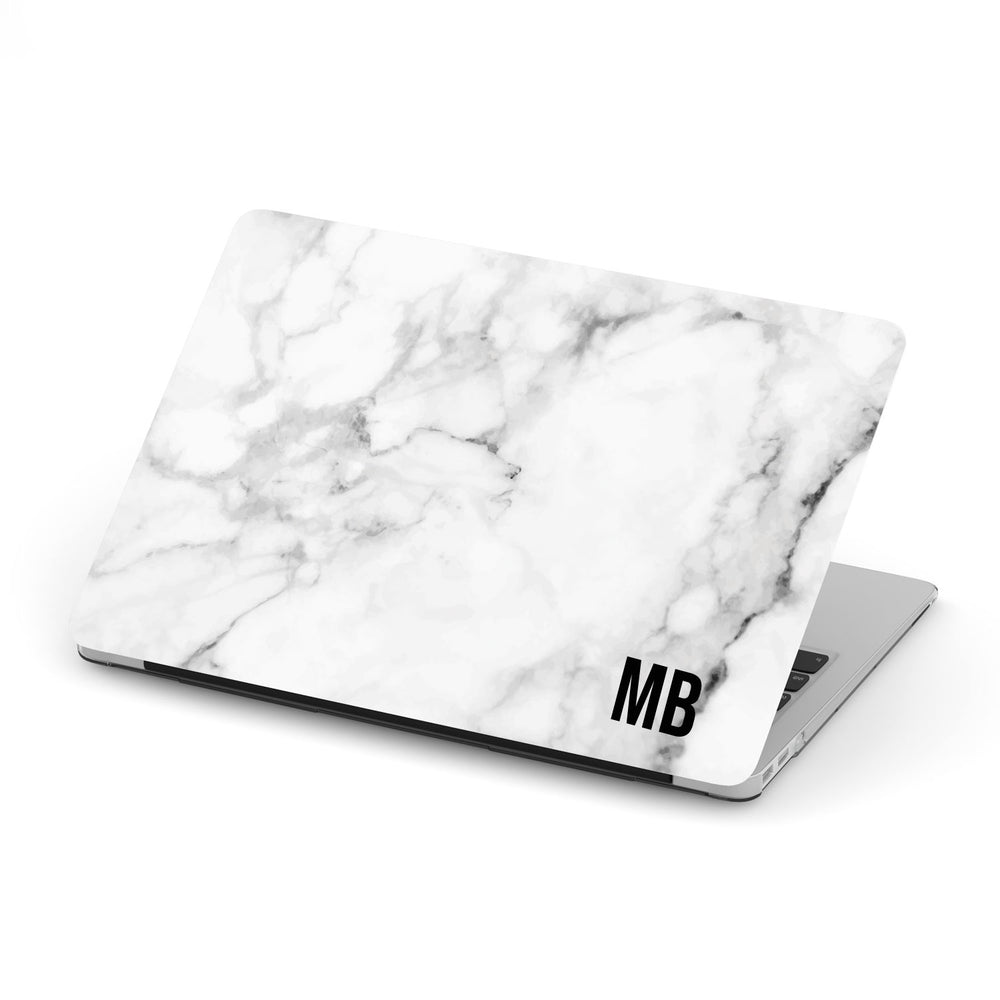 Personalized Macbook Hard Shell Case - White Marble