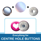 1 inch Button Parts, Everything For Centre Hole Buttons