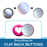 1 inch Button Parts, Everything For Flat Back Buttons