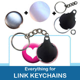 1 inch Button Parts, Everything For Link Keychains