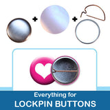 1 inch Button Parts, Everything For Lock Pin Buttons