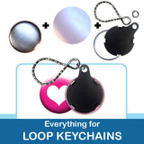 1 inch Button Parts, Everything For Loop Keychains