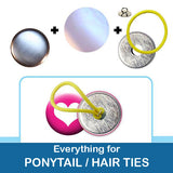 1 inch Button Parts, Everything For Ponytail Hair Tie Buttons