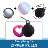 1 inch Button Parts, Everything For Zipper Pulls