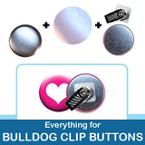 1.5 inch Button Parts Everything For Bulldog Clip Buttons