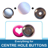 1.5 inch Button Parts Everything For Centre Hole Buttons