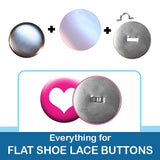 1.5 inch Button Parts Everything For Flat Shoelace Buttons