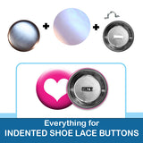1.5 inch Button Parts Everything For Indented Shoelace Buttons