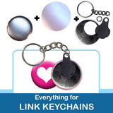 1.5 inch Button Parts Everything For Link Keychains