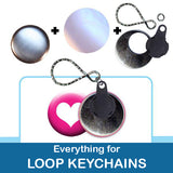1.5 inch Button Parts Everything For Loop Keychains