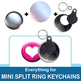 1.5 inch Button Parts Everything For Mini Split Ring Keychains