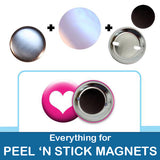 1.5 inch Button Parts Everything For Peel n Stick Magnets