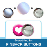 1.5 inch Button Parts Everything For Pinback Buttons