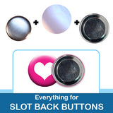 1.5 inch Button Parts Everything For Slotted Back Buttons