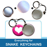1.5 inch Button Parts Everything For Snake Keychains