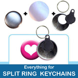 1.5 inch Button Parts Everything For Split Ring Keychains