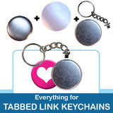 1.5 inch Button Parts Everything For Tabbed Link Keychains