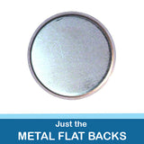1.5 inch Button Parts Just Metal Flat Backs