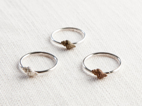 Mini Shell rings