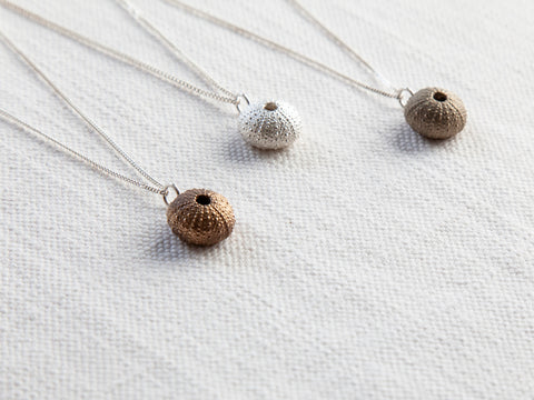 Sea urchin pendants