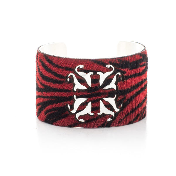 Calfskin RC Logo Cut Out - Red Zebra