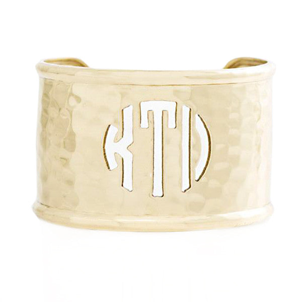Rimmed Cut Out 1.5 Monogram Gold