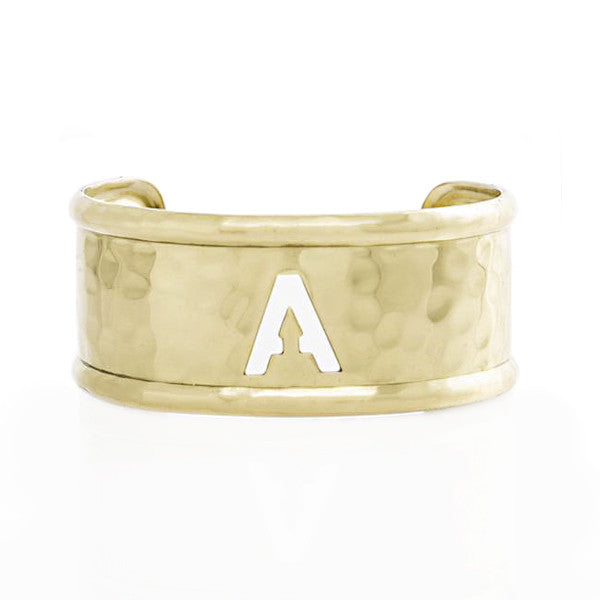 Rimmed Cut Out 1.0 Single Initial Gold (Available in all initials)