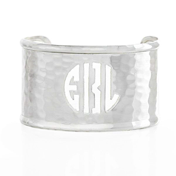 Rimmed Cut Out 1.5 Monogram Silver