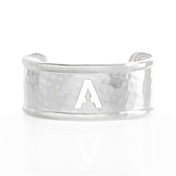 Rimmed Cut Out 1.0 Single Initial Silver (Available in all initials)