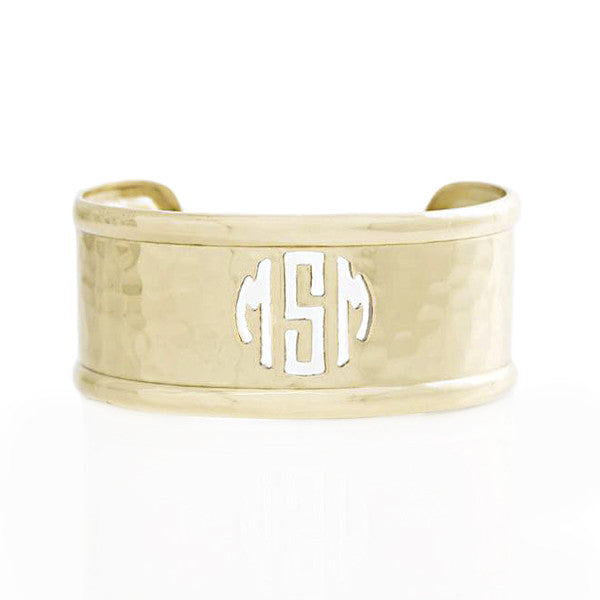 Rimmed Cut Out 1.0 Monogram Gold