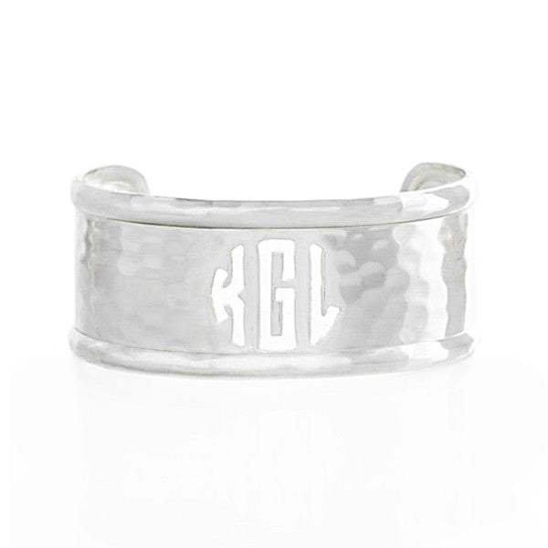 Rimmed Cut Out 1.0 Monogram Silver