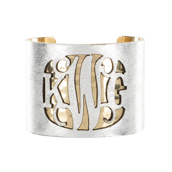 Lambskin Over Metal 2.0 Cut Out Monogram Metallic Silver - Gold