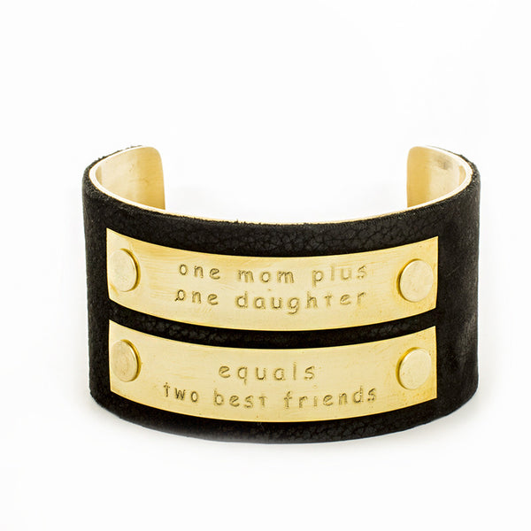 One Mom Plus One Daughter 1.5 Black with Gold