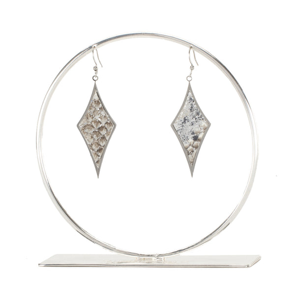 Python Diamond Earrings - All That Glitters on Silver