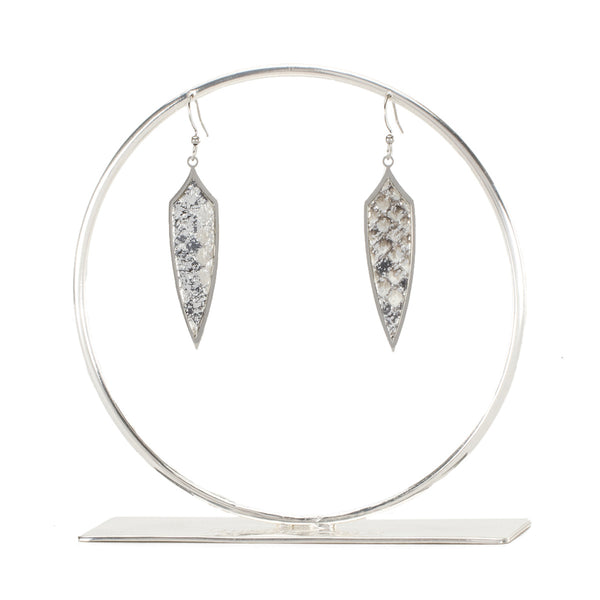 Python Pendulum Earrings - All That Glitters on Silver